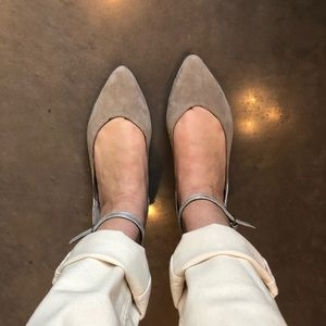 H&M Suede Gray Flats